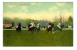 Polo , A Close Game Postcard Lakewood New Jersey 1910's - $11.88