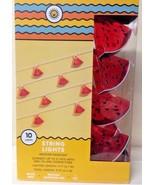 Target Watermelon Slice 10 Count String Light Indoor Outdoor RV Party Su... - $39.99