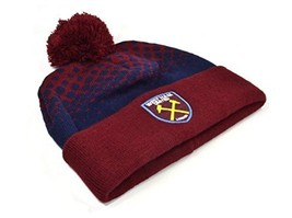 West Ham Cuff Bobble Knitted Hat #aah image 1