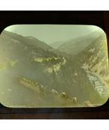 Vtg Magic Lantern Glass Slide Photo Color Telemarken Norway Horse & Cart - $14.20