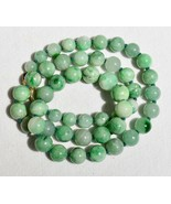 "Vintage Green Jadeite Jade Beaded Necklace 22"" 14K Yellow Gold Clasp - $394.99"