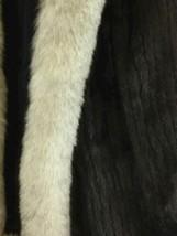 Vintage Maison Blanche Saga Mink Women's Dark Brown Fur Coat Size 10 image 2