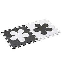 Interlocking Foam Mats EVA Foam Floor Mats (10 Tiles) White Flower image 1