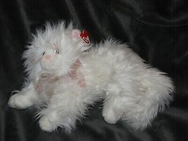TY CLASSIC STUFFED PLUSH KIT THE WHITE CAT Blue Eye Pink Bow Ribbon 2006... - $49.49