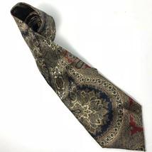 """Pierre Cardin Men's Tie 100% Silk Blue Red Gold Paisley L 59"""" W 4"""" - $14.13"""