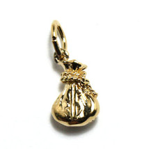 Yellow Gold Vermeil Sterling Silver Money Bag Charm Pendant - $12.50