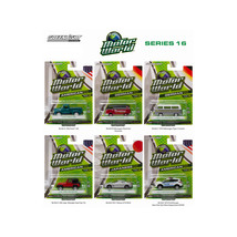 Motor World Series 16, 6pc Diecast Car Set 1/64 Diecast Model Cars by Gr... - $43.58
