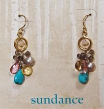 Sundance Catalog Earrings $158 Gemstone Pearl 14kt Gold Opal Quartz Grey... - $97.02