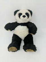 Build A Bear Workshop Panda Bear Stuffed Plush Black & White VTG Retired - $14.84