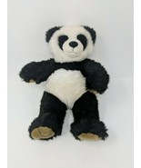 Build A Bear Workshop Panda Bear Stuffed Plush Black & White VTG Retired - $14.84