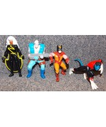 Vintage Marvel X-Men Lot of 4 PVC Figures Wolverine Cable Nightcrawler &... - $39.99