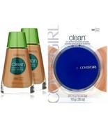 3-Pack NEW CoverGirl Clean Sensitive Skin Liquid Makeup Powder in 265 565 Tawny - $19.99