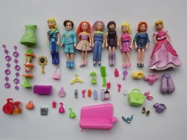 Mattel Polly Pocket Lot of Dolls Clothing and Accessories - $28.04