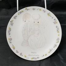 "Happy Anniversary Plate: 6.5"" Precious Moments, By Sam Butcher 1988 White Dish - $14.50"