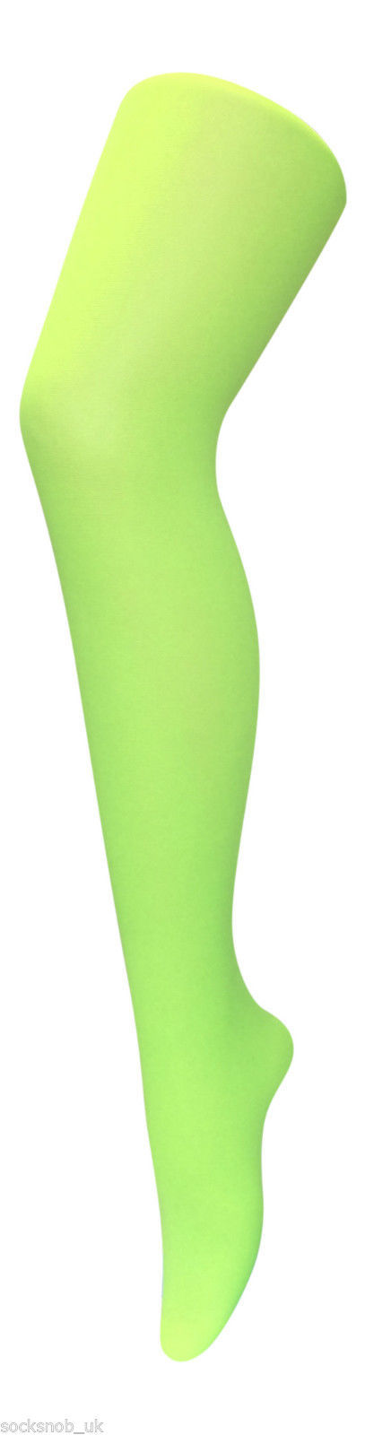 Women's Plain 40 Denier Opaque Bright Neon Tights, One size 8-14 uk, 36-42 eu