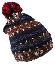 Staple Piccione Beacon Berretto 1510X2988 Blu Scuro Pom Sfera Knit Sci Calotta
