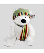 Russ Bernard Polar Bear Plush Rikey Austin Stuffed Plush Animal White 14... - $19.79