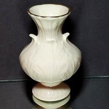 1 (One) VINTAGE LENOX ACANTHUS LEAF Vase Gold Mark Ivory 24K Gold Trim 4... - $12.85