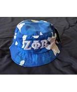 ZETA PHI BETA SORORITY BLUE WHITE Camouflage  Bucket Hat Z-PHI Bucket Ha... - $19.60