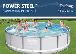 "Bestway Power Steel 14' x 42"" Frame Swimming Pool Set - Ready to Ship image 9"