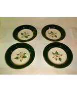 Homer laughlin jade rose soup bowls 4pc unused VG vintage green (LOT1) - $30.00