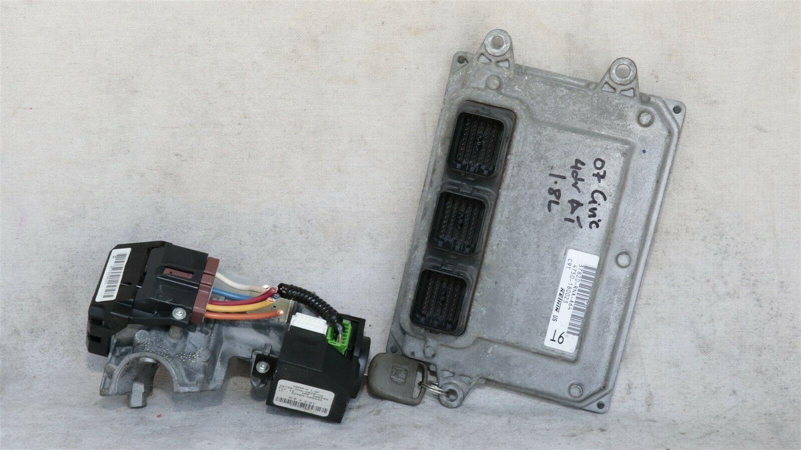 06-08 Honda Civic 1.8 A/T ECU PCM Engine Computer & Immobilizer 37820-RNA-A64