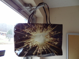 Kate Spade Let Sparks Fly Tote Barley Used Cl EAN Nice Shape New York - $44.99