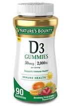 Vitamin D3 Gummies by Nature's Bounty, Vitamin Supplement, Supports Immune Healt - $15.99