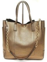 TIFFANY & CO. Leather Tote Bag RILEY Pebbled Bronze Large Shoulder Strap - $679.25