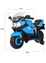 Kids 6V Battery Powered Electric Motorcycle with Training Wheels & Music... - $445.50