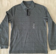Van Heusen Mens Long Sleeve Polo Style light weigh sweater size Small gray - $24.75