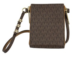 NEW MICHAEL KORS WOMEN'S MK PVC LEATHER PURSE BELT FANNY PACK BAG BROWN 552500