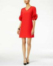 Alfani  women's Ruffle-Sleeve A-Line Dress chinese red size 4 - $28.71