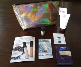 Makeup Bag With Samples Too Faced Concealer Self Tanner Skin Care Etc. NEW - $17.45