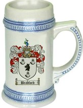 Bradford Coat of Arms Stein / Family Crest Tankard Mug - $21.99