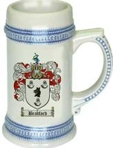 Bradford Coat of Arms Stein / Family Crest Tankard Mug - $21.99