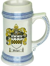 Burgar Coat of Arms Stein / Family Crest Tankard Mug - $21.99