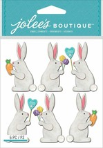 Jolee's Boutique Dimensional White Easter Bunny Stickers