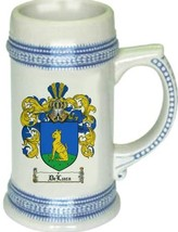 Deluca Coat of Arms Stein / Family Crest Tankard Mug - $21.99