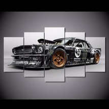 5 Pcs Ford Mustang Rtr Car Home Decor Wall Picture Printed Canvas Painting - $45.99+
