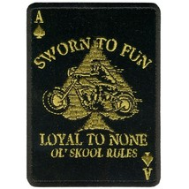 "LOYAL TO NONE ( 4"" ) MOTORCYCLE JACKET VEST BIKER PATCH OL' SKOOL RULES - $9.99"