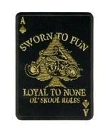 """LOYAL TO NONE ( 4"""" ) MOTORCYCLE JACKET VEST BIKER PATCH OL' SKOOL RULES - $9.99"""