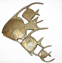 Nautical Wall Decor 4 Vintage Brass Angel Fish} - $36.62