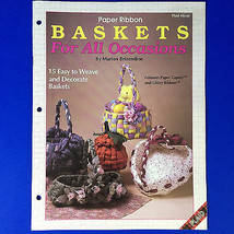 Paper Ribbon Baskets For All Occasions Marion Brizendine 15 Patterns Pla... - $5.93