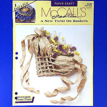 McCalls Creates A New Twist On Baskets Paper Craft Woven Paper Twist Boo... - $4.94