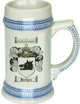 Jardyne Coat of Arms Stein / Family Crest Tankard Mug - $21.99