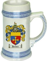 Jeansen Coat of Arms Stein / Family Crest Tankard Mug - $21.99