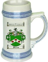 Kerns Coat of Arms Stein / Family Crest Tankard Mug - $21.99