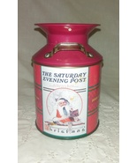2005 Red Saturday Evening Post Collectors Edition Christmas Tin Milk Can  - $2.95