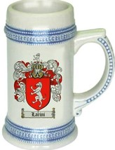 Larini Coat of Arms Stein / Family Crest Tankard Mug - $21.99